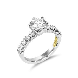 Total diamond weight 2.00 cts round brilliant cut